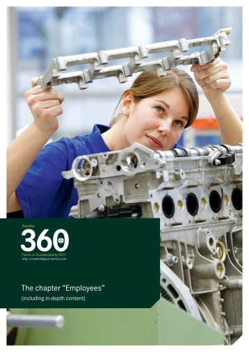 "The chapter ""Employees"" - Daimler Sustainability Report 2011."