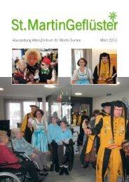 Hauszeitung AltersZentrum St. Martin Sursee März 2013