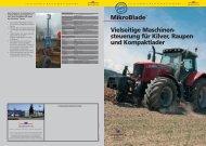 MikroBlade™ Vielseitige Maschinen- steuerung für Kilver, Raupen ...