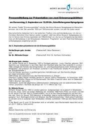 Pressemitteilung - Aktives Museum Spiegelgasse
