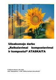 Reikalavimai kompostavimui ir kompostui - Aplinkos ministerija