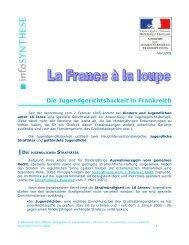Die Jugendgerichtsbarkeit in Frankreich