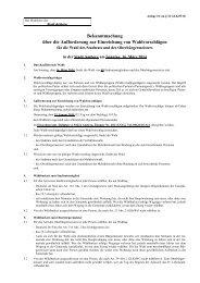Bekanntmachung über die Aufforderung zur ... - Stadt Amberg