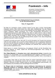 Rede des Staatspräsidenten als PDF-Dokument - Französische ...