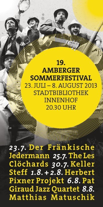 Sommerfestival-Programmheft - Stadt Amberg
