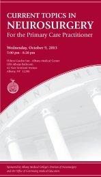 Neurosurgery Conference - Hilton Garden Inn - Albany Medical Center