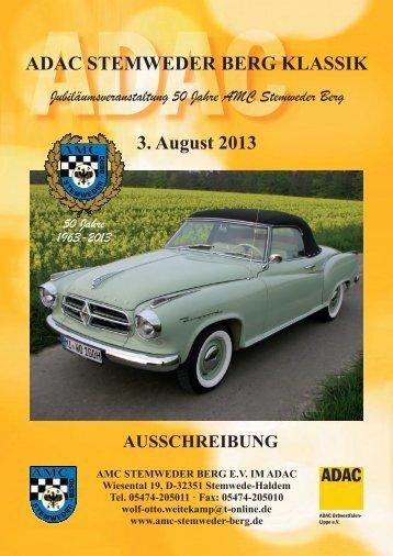 ADAC STEMWEDER BERG KLASSIK 3. August 2013 ...