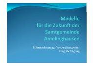 Folien aus den Bürger-Informationsveranstaltungen - Amelinghausen
