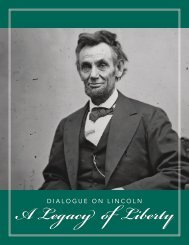 Dialogue on Lincoln – A Legacy of Liberty - American Bar Association