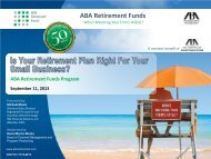 ABA Retirement Funds - American Bar Association