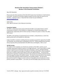 WIPC May Newsletter - American Bar Association