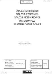 catalogo parti di ricambio catalogue of spare parts ... - American Beta