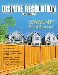Winter 2013 Dispute Resolution Magazine - American Bar Association