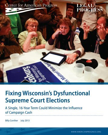 Fixing Wisconsin's Dysfunctional Supreme Court Elections