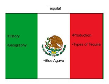 Tequila! • History • Geography • Production • Types of Tequila • Blue ...
