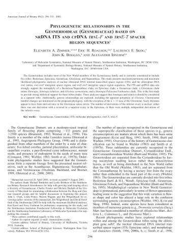 nrdna its and cpdna trnl-f and trne-t spacer - American Journal of ...