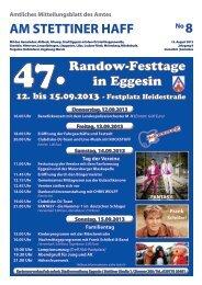 Ausgabe 08/13 - Amt am Stettiner Haff