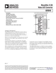 AD9048 Monolithic 8-Bit Video A/D Converter ... - Analog Devices