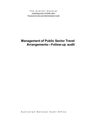 Management of Public Sector Travel Arrangements-Follow-up audit