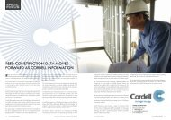REEd CONSTRUCTION dATA MOVES fORWARd AS CORdELL ...