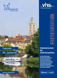 September 2012 - Volkshochschule Schweinfurt