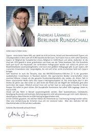 Berliner Rundschau Nr. 5/2013 - Lämmel, Andreas