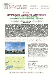 kanada metropolen und landschaften an der ostküste toronto ...