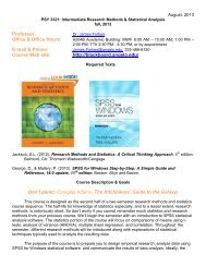 PSY 3321 (Intermediate Research Methods & Statistical Analysis)