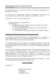 Bekanntmachung zur Bildung von Briefwahlvorstände und ...