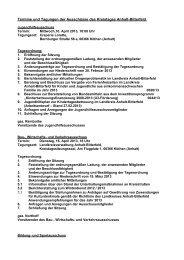 Termine und Tagungen der Ausschüsse des Kreistages Anhalt ...