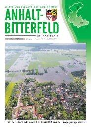 Ausgabe 13 vom 28. Juni 2013 - Landkreis Anhalt-Bitterfeld