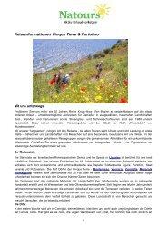 Reiseinformationen Cinque Terre & Portofino