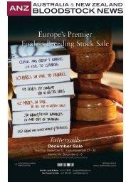 Europe's Premier Foal & Breeding Stock Sale - Anzbloodstocknews ...