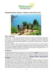 Reiseinformationen Ligurien – Wandern in den Cinque Terre