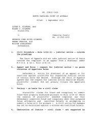 Gilmore v. Gilmore - North Carolina Court System