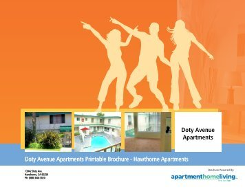 Doty Avenue Apartments Printable Brochure - Apartments For Rent