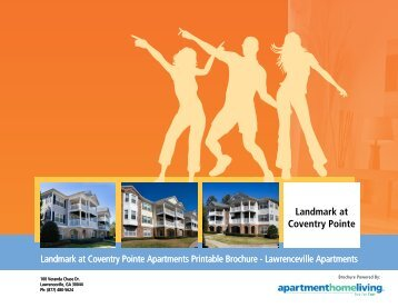 Landmark at Coventry Pointe Apartments Printable Brochure ...