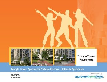 Triangle Towers Apartments Printable Brochure - Apartments For Rent