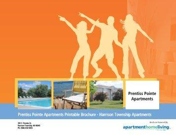 Prentiss Pointe Apartments Printable Brochure - Harrison Township ...