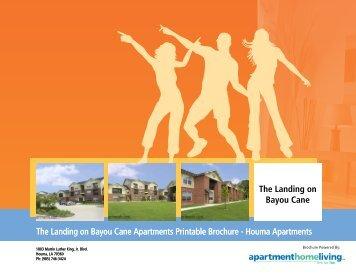 The Landing on Bayou Cane Apartments Printable Brochure ...