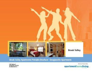 Brook Valley Apartments Printable Brochure - Douglasville Apartments