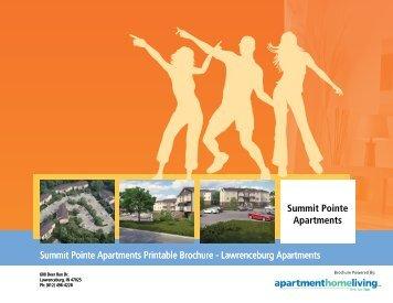 Summit Pointe Apartments Printable Brochure - Lawrenceburg ...