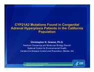CYP21A2 Mutations Found in Congenital Adrenal Hyperplasia ...