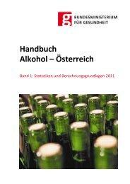 Handbuch Alkohol – Österreich Band 1: Formeln und Zahlen 2011