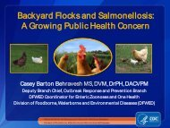 Backyard Flocks and Salmonellosis - Association of Public Health ...