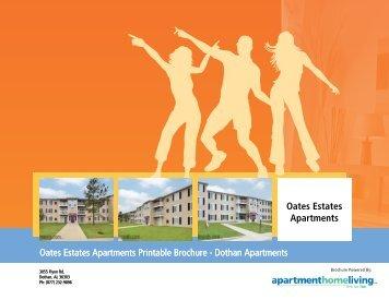 Oates Estates Apartments Printable Brochure - Dothan Apartments