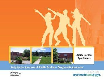 Amity Garden Apartments Printable Brochure - Douglassville ...