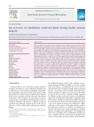An overview on antidiabetic medicinal plants having ... - Apjtb.com
