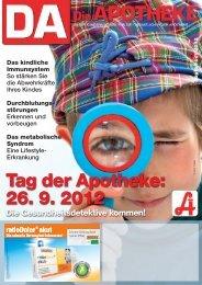Tag der Apotheke: 26. 9. 2012 - Apothekerkammer