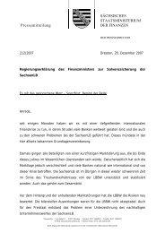 Regierungserklärung des Finanzministers zur Solvenzsicherung der ...